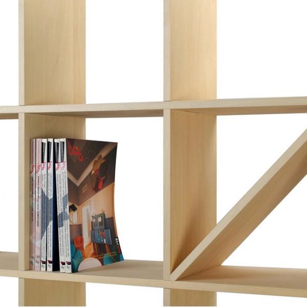 壁面収納家具 本棚 壁面書棚 壁一面 オープンラック 梁下まで A4サイズより少し大きめの本、雑誌 高さ180cm 奥行230mm|margherita|03