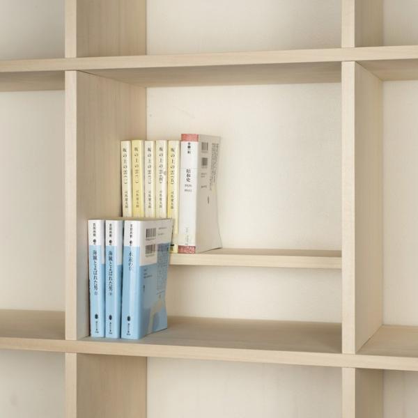 壁面収納家具 本棚 壁面書棚 壁一面 オープンラック 梁下まで A4サイズより少し大きめの本、雑誌 高さ180cm 奥行230mm|margherita|04
