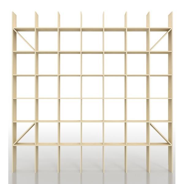 本棚 大容量 壁面 おしゃれ 壁面書棚 壁一面本棚 天井まで 縦7コマ×横7コマ 奥行き25cm|margherita