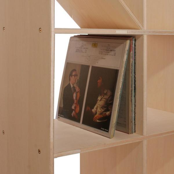 レコード棚 LP アナログラック 壁面収納 大容量レコード棚|margherita|05