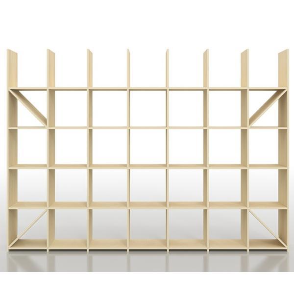 本棚 おしゃれ 家具 壁面収納 壁一面 大型本 美術書 梁下まで 書棚 オープンラック 横長タイプ|margherita