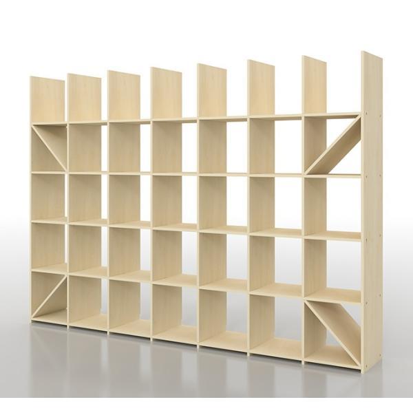 本棚 おしゃれ 家具 壁面収納 壁一面 大型本 美術書 梁下まで 書棚 オープンラック 横長タイプ|margherita|02