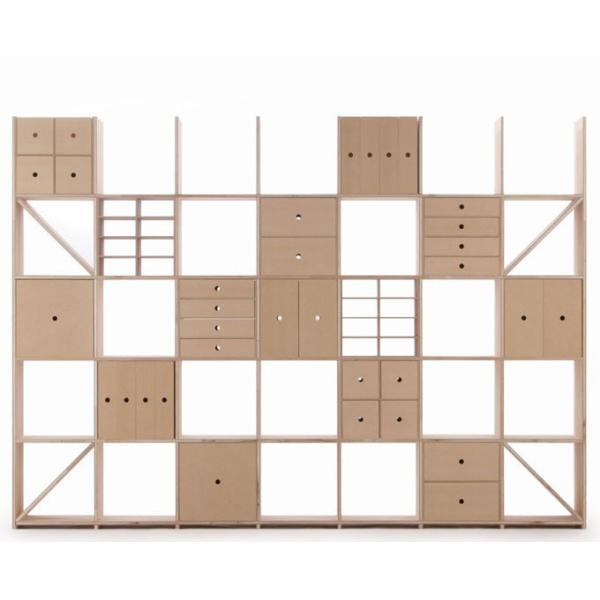 本棚 おしゃれ 家具 壁面収納 壁一面 大型本 美術書 梁下まで 書棚 オープンラック 横長タイプ|margherita|04