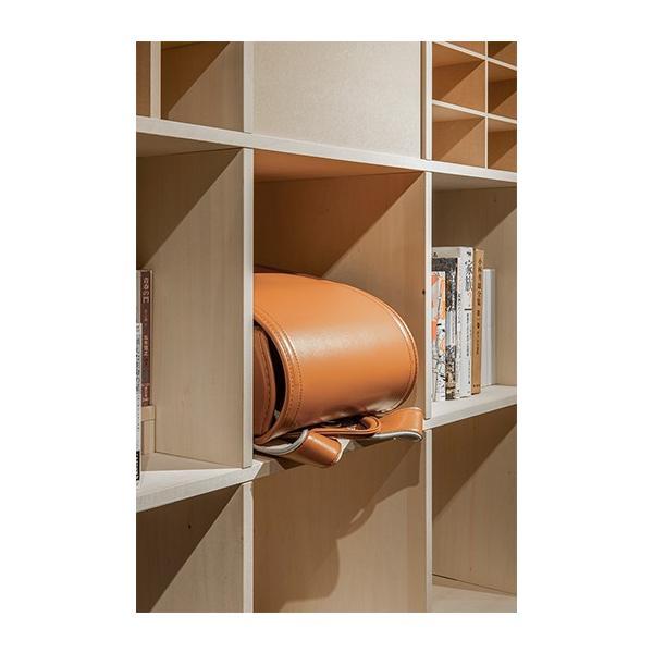 本棚 おしゃれ 家具 壁面収納 壁一面 大型本 美術書 梁下まで 書棚 オープンラック 横長タイプ|margherita|07