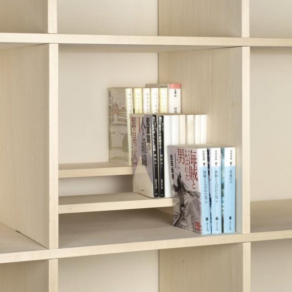 本棚 おしゃれ 家具 壁面収納 壁一面 大型本 美術書 梁下まで 書棚 オープンラック 横長タイプ|margherita|08
