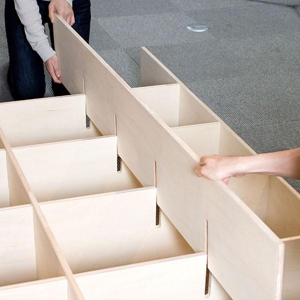 レコード棚 レコード収納 LPラック 壁面収納 壁一面 大容量|margherita|10