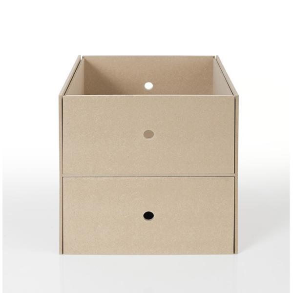 本棚 壁面書棚 壁一面本棚 A4書類収納引き出し 2段(奥行350本棚専用)|margherita|02