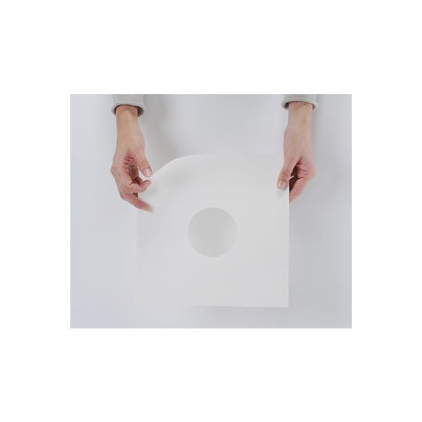 SP(10インチ)レコード用 紙ジャケット 両穴 白  100枚セット/SP-003-WH