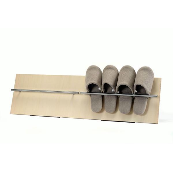 来客用スリッパ立て 木製 薄型 コンパクト ディスプレイ 見せる収納|margherita
