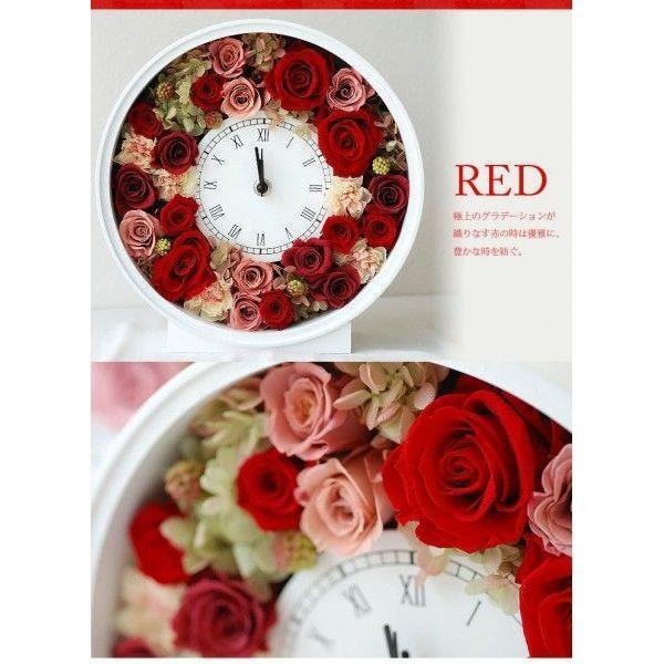 還暦祝い 女性『花時計』プリザーブドフラワー 結婚祝い ギフト 誕生日祝い 還暦祝い 豪華|marika|03