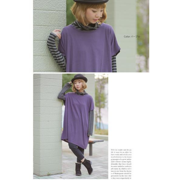 大きいサイズ レディース ワンピース フレンチスリーブ 半袖 体型カバー 春 夏服 30代 40代 50代 ファッション mo 春|marilyn|10