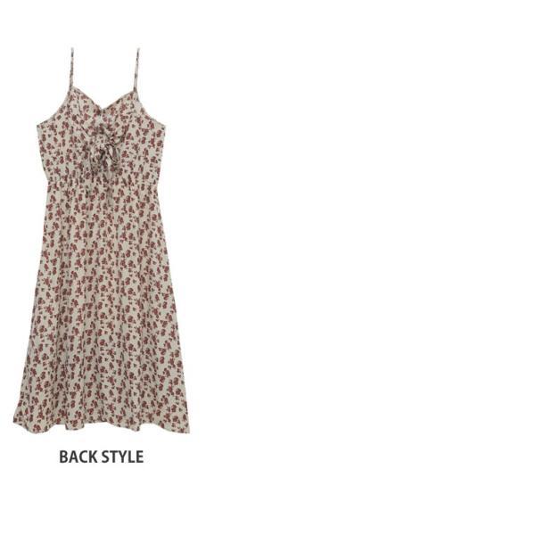 大きいサイズ ワンピース ロング丈 キャミワンピ 花柄プリント バックリボン 体型カバー 夏服 30代 40代 50代 ファッション marilyn 04
