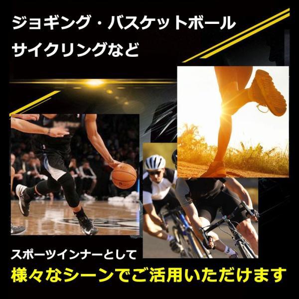 メンズ スポーツタイツ 伸縮性 吸汗速乾 アンダーウェア スポーツインナー フィットネスウェア タイツ レギンス トレーニング ジョギング フィットネス|marine-blue|03