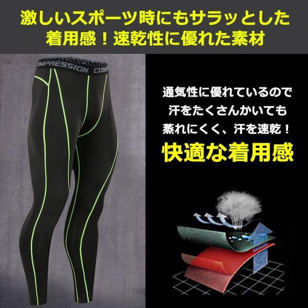メンズ スポーツタイツ 伸縮性 吸汗速乾 アンダーウェア スポーツインナー フィットネスウェア タイツ レギンス トレーニング ジョギング フィットネス|marine-blue|05
