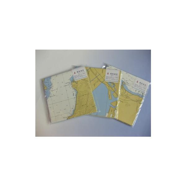 海図封筒セット(スクエア・英語版) 文具 マップ ギフト