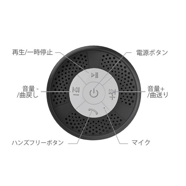 TaoTronics お風呂専用 スピーカー 吸盤式 Bluetooth ワイヤレススピーカー マイク搭載 (防水仕様) A2DP/AVRC