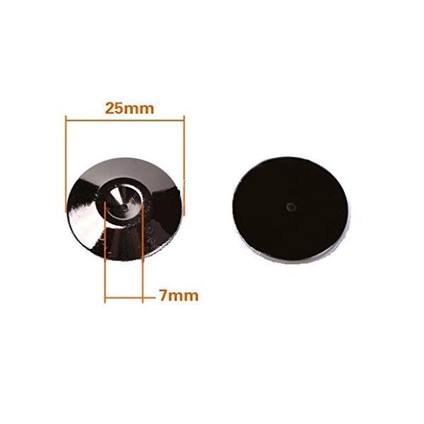 macaroni(マカロニ) インシュレーター スピーカー スパイク 受け 8個 セット 金属 製 メタル ブラック 振動 吸収