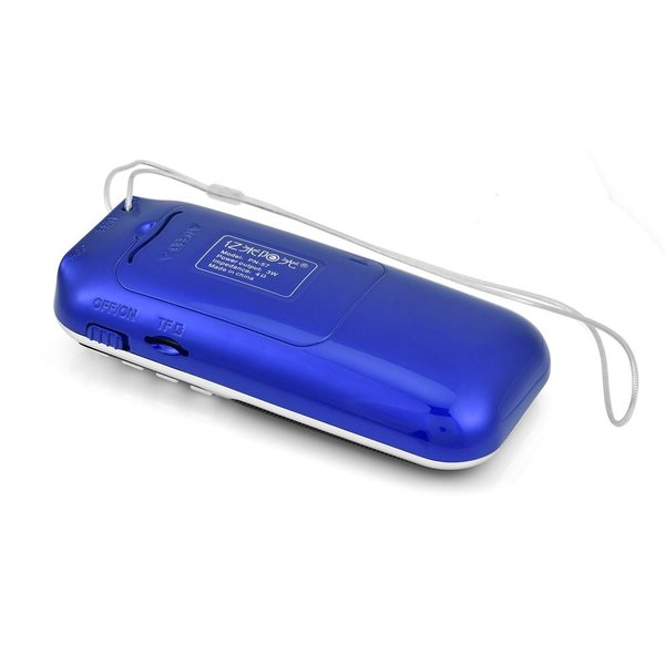 Fosa ポータブルFMラジオ HiFiステレオスピーカー音楽プレーヤー サポートマイクロ SD TFカード USBディスクAUX LCD