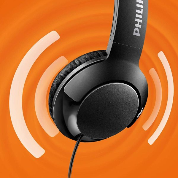 PHILIPS Bass+ ヘッドホン オンイヤー ブラック SHL3075BK国内正規品