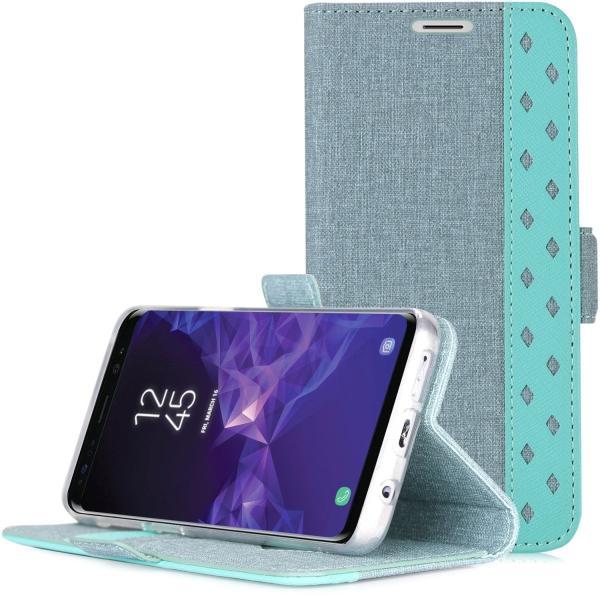 Samsung Galaxy S9 Plus 財布型 ケース 開閉式カバー フリップカバー 保護ケース 6.2インチ Galaxy S9+