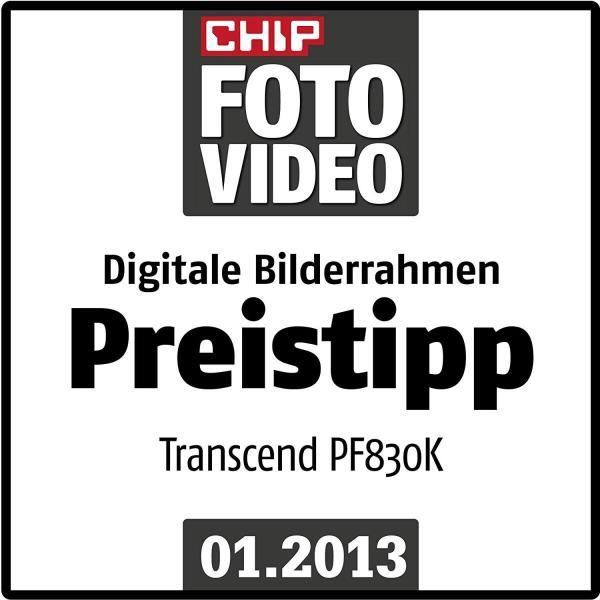 Transcend デジタルフォトフレーム PF830 8インチ 内蔵メモリー4GB 解像度800x600 ブラック TS4GPF830K