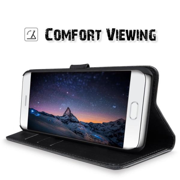 SLEOAsus ZenFone 4 Max ZC554KLケースクラシックレトロ・ベストレザー 手帳型 カバー 札入れフリップ PU革 柔
