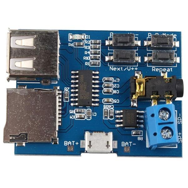 高音質 TFカード Uディスク Mp3デコーダ モジュール デコーダボード 無損失デコード 増幅器(3個)