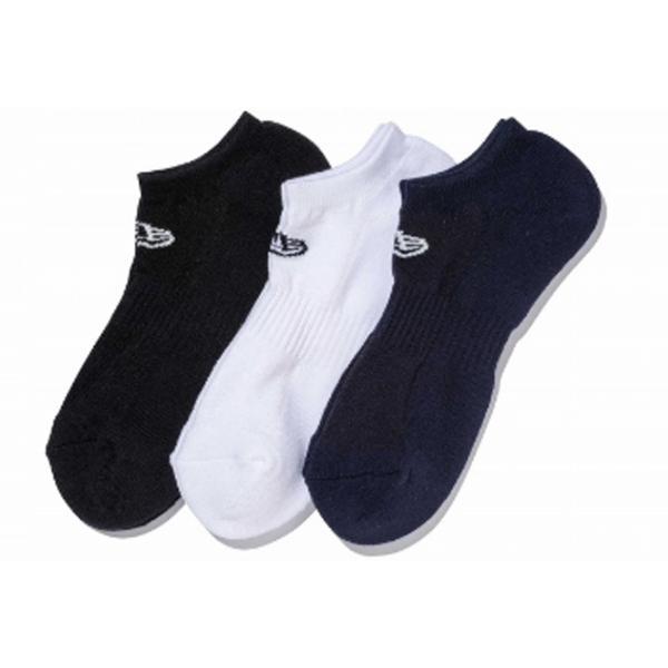ニューエラ NEW ERA メンズ&レディース ソックス ショート 3ペア マルチ カジュアル 小物 靴下 ソックス|mario