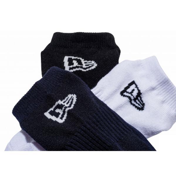 ニューエラ NEW ERA メンズ&レディース ソックス ショート 3ペア マルチ カジュアル 小物 靴下 ソックス|mario|03
