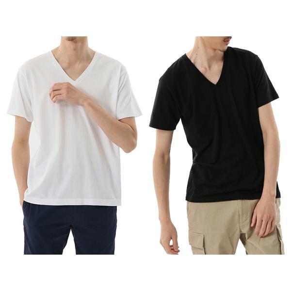 ヘインズ Hanes メンズ 2枚組 ジャパンフィット VネックTシャツ 5.3oz カジュアル シャツ Tシャツ【191013】|mario