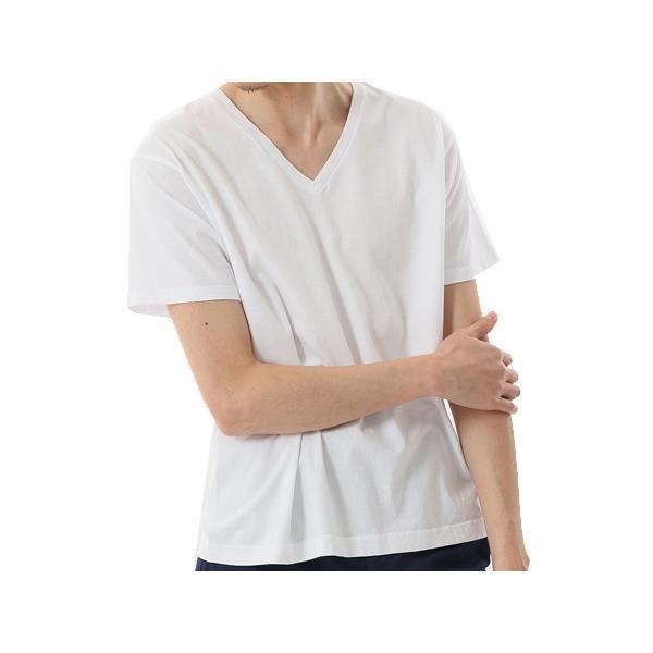 ヘインズ Hanes メンズ 2枚組 ジャパンフィット VネックTシャツ 5.3oz カジュアル シャツ Tシャツ【191013】|mario|02