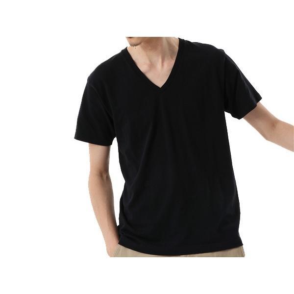 ヘインズ Hanes メンズ 2枚組 ジャパンフィット VネックTシャツ 5.3oz カジュアル シャツ Tシャツ【191013】|mario|03