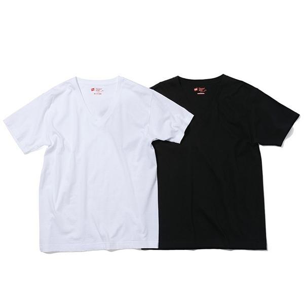 ヘインズ Hanes メンズ 2枚組 ジャパンフィット VネックTシャツ 5.3oz カジュアル シャツ Tシャツ【191013】|mario|04