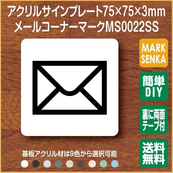 JIS規格 ピクトグラム 郵便受けマーク (75×75mm)MS0022SS メールコーナー プレート ピクトサイン サインプレート 看板 表示板 室名札 標識 表札 ピクト