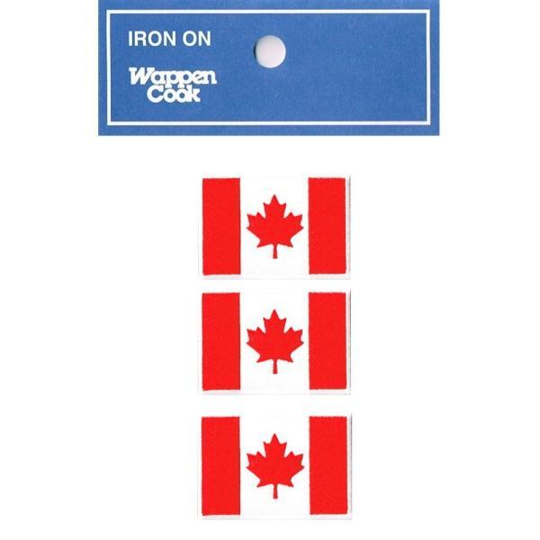 カナダ 国旗 ワッペン SS 3枚|markers-patch
