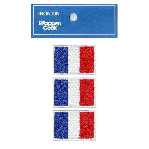 フランス国旗 ワッペン SS 3枚 ミニワッペン|markers-patch
