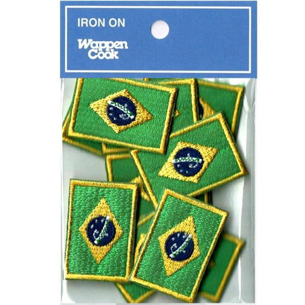ブラジル 国旗 ワッペン SS 10枚 ミニ|markers-patch