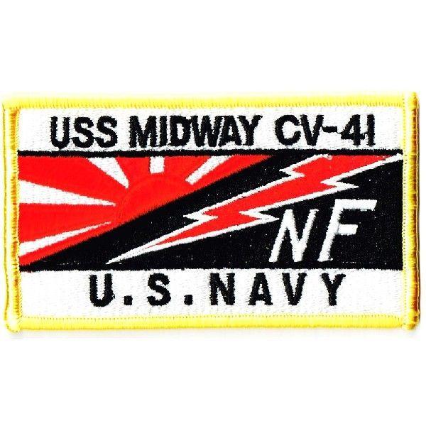 アメリカ軍 ミリタリーワッペン 米海軍CV41YellowLock|markers-patch