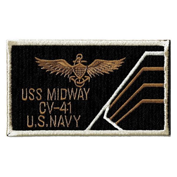 アメリカ軍 ミリタリーワッペン 米海軍USS MIDWAY CV41BeigeLock|markers-patch