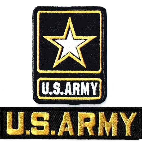 ミリタリーワッペン ARMYエンブレム+ARMYタブ|markers-patch