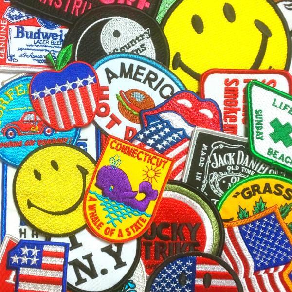アイロン ワッペン エンブレム アメリカンパッチ 12枚セット |markers-patch