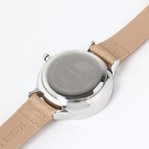 レディース ファッション デイジー 雛菊 腕時計 時計 カラー 本革 レザー ベルト ブラック ブラウン グレー ピンク markgraf 12