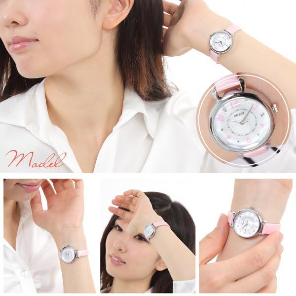 レディース ファッション 腕時計 一般防水 時計 カラー PUベルト ブラック ライトブルー ピンク ホワイト|markgraf|03