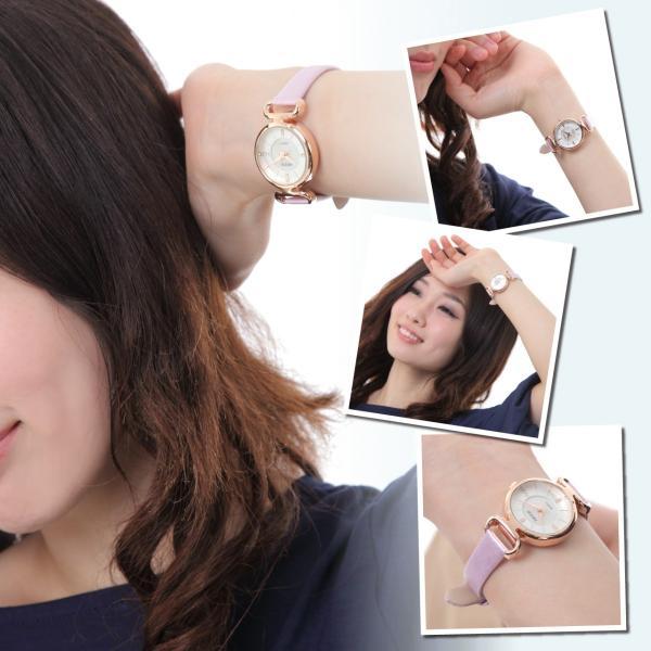 レディース ファッション 腕時計 時計 カラー 防水PUベルト ブラック ライトブルー ピンク レッド ホワイト|markgraf|03