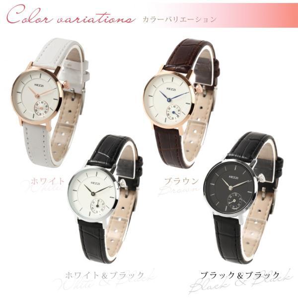 レディース ファッション 腕時計 時計 カラー 防水PUベルト ブラック ホワイト ブラウン|markgraf|02