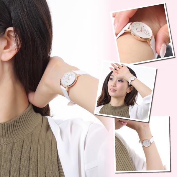 レディース ファッション 腕時計 時計 カラー 防水PUベルト ブラック ホワイト ブラウン|markgraf|03