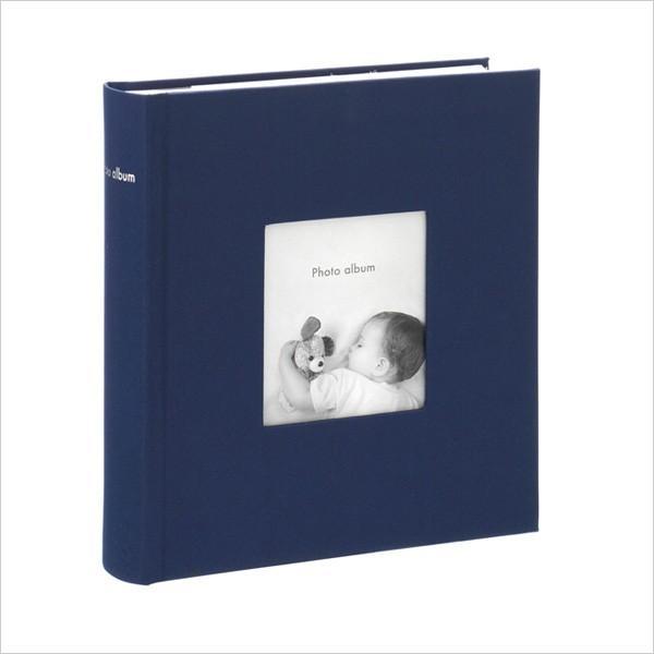 アルバム 写真 大容量 ポストカードサイズ 200枚 収納可フォトフレームアルバム コルソグラフィア ネイビー 赤ちゃん 手作り 出産祝い マークス