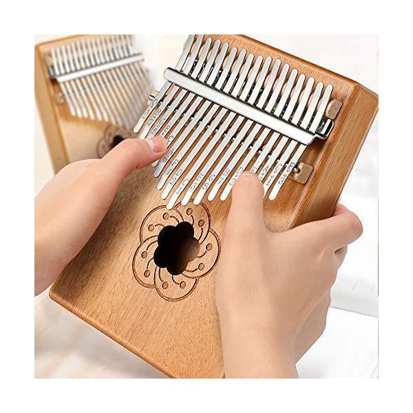 EXTSUD親指ピアノカリンバ17キーkalimbaカリンオルガン初心者入門楽器操作簡単スタディガイドトーンハンマー指ス