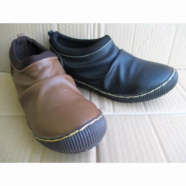 [ウィルソンリー] Wilson Lee 2814 レディース カジュアルシューズ 防水加工 コンフォート スリッポン 伸縮性  仕事靴 ブラック・キャメル
