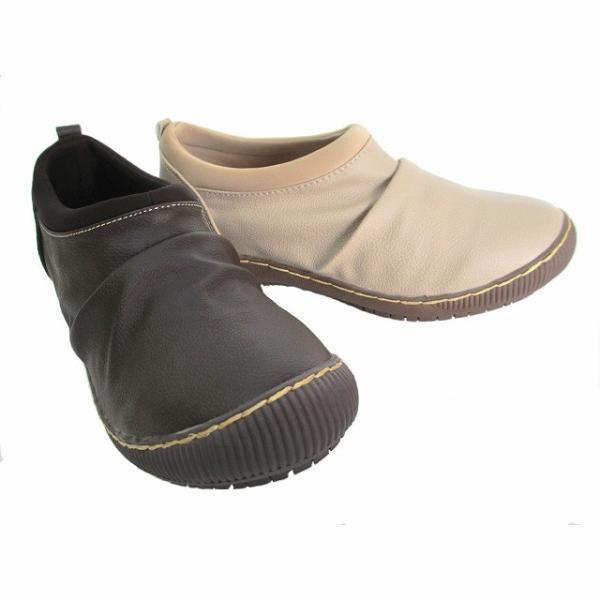 [ウィルソンリー] Wilson Lee 2814 レディース カジュアルシューズ 防水加工 コンフォート スリッポン 伸縮性 リゾート靴 普段履き 仕事靴